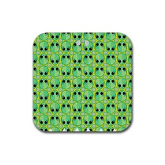 Alien Pattern Rubber Coaster (square)  by BangZart