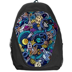 Cartoon Hand Drawn Doodles On The Subject Of Space Style Theme Seamless Pattern Vector Background Backpack Bag by BangZart