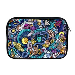 Cartoon Hand Drawn Doodles On The Subject Of Space Style Theme Seamless Pattern Vector Background Apple Macbook Pro 17  Zipper Case by BangZart