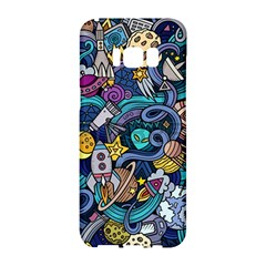 Cartoon Hand Drawn Doodles On The Subject Of Space Style Theme Seamless Pattern Vector Background Samsung Galaxy S8 Hardshell Case  by BangZart