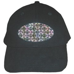 Peace Pattern Black Cap by BangZart