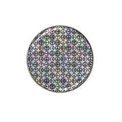 Peace Pattern Hat Clip Ball Marker (10 Pack) by BangZart