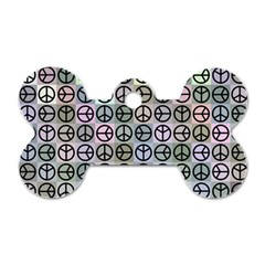 Peace Pattern Dog Tag Bone (one Side) by BangZart