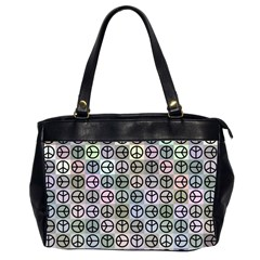 Peace Pattern Office Handbags (2 Sides)  by BangZart