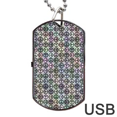 Peace Pattern Dog Tag Usb Flash (two Sides) by BangZart
