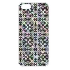 Peace Pattern Apple Iphone 5 Seamless Case (white) by BangZart