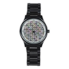 Peace Pattern Stainless Steel Round Watch by BangZart