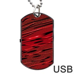 Alien Sine Pattern Dog Tag Usb Flash (one Side)