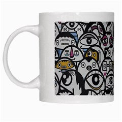 Alien Crowd Pattern White Mugs by BangZart