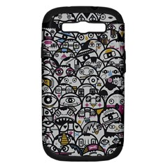 Alien Crowd Pattern Samsung Galaxy S Iii Hardshell Case (pc+silicone) by BangZart