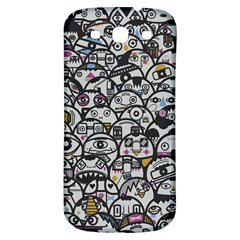 Alien Crowd Pattern Samsung Galaxy S3 S Iii Classic Hardshell Back Case by BangZart