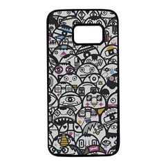 Alien Crowd Pattern Samsung Galaxy S7 Black Seamless Case