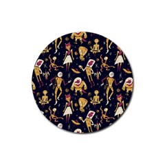 Alien Surface Pattern Rubber Coaster (round)  by BangZart