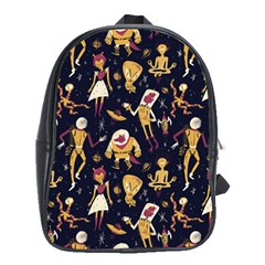 Alien Surface Pattern School Bags(large)  by BangZart