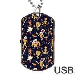 Alien Surface Pattern Dog Tag Usb Flash (two Sides) by BangZart