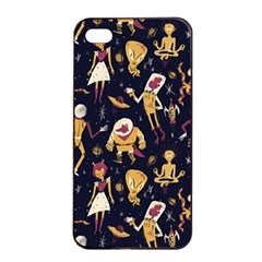 Alien Surface Pattern Apple Iphone 4/4s Seamless Case (black) by BangZart