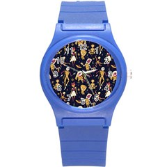 Alien Surface Pattern Round Plastic Sport Watch (s) by BangZart