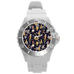 Alien Surface Pattern Round Plastic Sport Watch (l) by BangZart