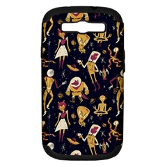 Alien Surface Pattern Samsung Galaxy S Iii Hardshell Case (pc+silicone) by BangZart