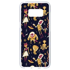 Alien Surface Pattern Samsung Galaxy S8 White Seamless Case