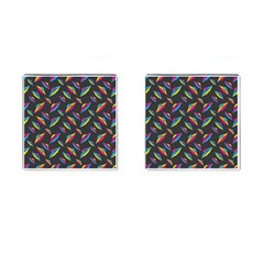 Alien Patterns Vector Graphic Cufflinks (square) by BangZart