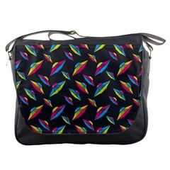 Alien Patterns Vector Graphic Messenger Bags by BangZart