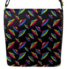 Alien Patterns Vector Graphic Flap Messenger Bag (s) by BangZart