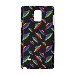 Alien Patterns Vector Graphic Samsung Galaxy Note 4 Hardshell Case by BangZart