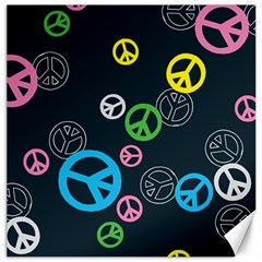 Peace & Love Pattern Canvas 12  X 12   by BangZart