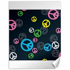 Peace & Love Pattern Canvas 18  X 24   by BangZart