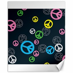 Peace & Love Pattern Canvas 11  X 14   by BangZart