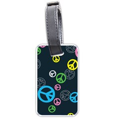 Peace & Love Pattern Luggage Tags (one Side)  by BangZart