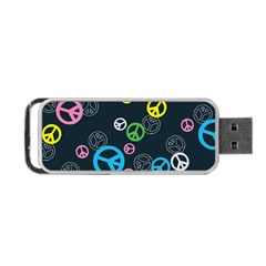 Peace & Love Pattern Portable Usb Flash (two Sides)