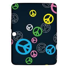 Peace & Love Pattern Samsung Galaxy Tab 3 (10 1 ) P5200 Hardshell Case  by BangZart