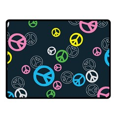 Peace & Love Pattern Double Sided Fleece Blanket (small)  by BangZart
