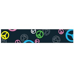 Peace & Love Pattern Flano Scarf (large) by BangZart