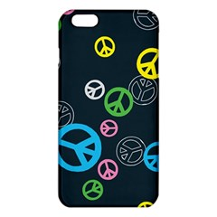 Peace & Love Pattern Iphone 6 Plus/6s Plus Tpu Case by BangZart