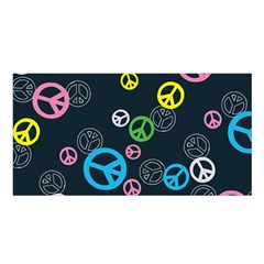 Peace & Love Pattern Satin Shawl by BangZart