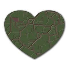 Alien Wires Texture Heart Mousepads by BangZart