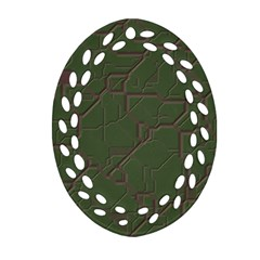 Alien Wires Texture Oval Filigree Ornament (two Sides) by BangZart