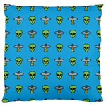 Alien Pattern Large Flano Cushion Case (Two Sides) Back