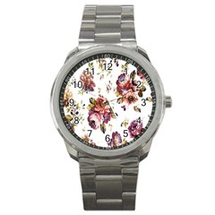 Texture Pattern Fabric Design Sport Metal Watch by BangZart