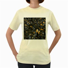 Monster Cover Pattern Women s Yellow T Shirt by BangZart