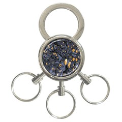 Monster Cover Pattern 3 Ring Key Chains by BangZart
