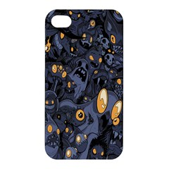 Monster Cover Pattern Apple Iphone 4/4s Premium Hardshell Case by BangZart