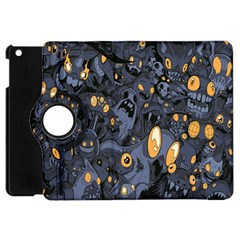 Monster Cover Pattern Apple Ipad Mini Flip 360 Case by BangZart