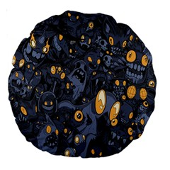 Monster Cover Pattern Large 18  Premium Round Cushions by BangZart
