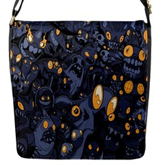 Monster Cover Pattern Flap Messenger Bag (s) by BangZart