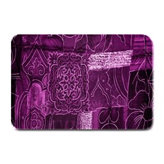 Purple Background Patchwork Flowers Plate Mats by BangZart