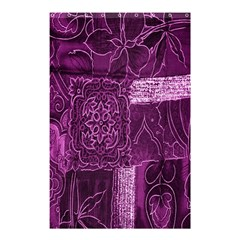 Purple Background Patchwork Flowers Shower Curtain 48  X 72  (small)  by BangZart